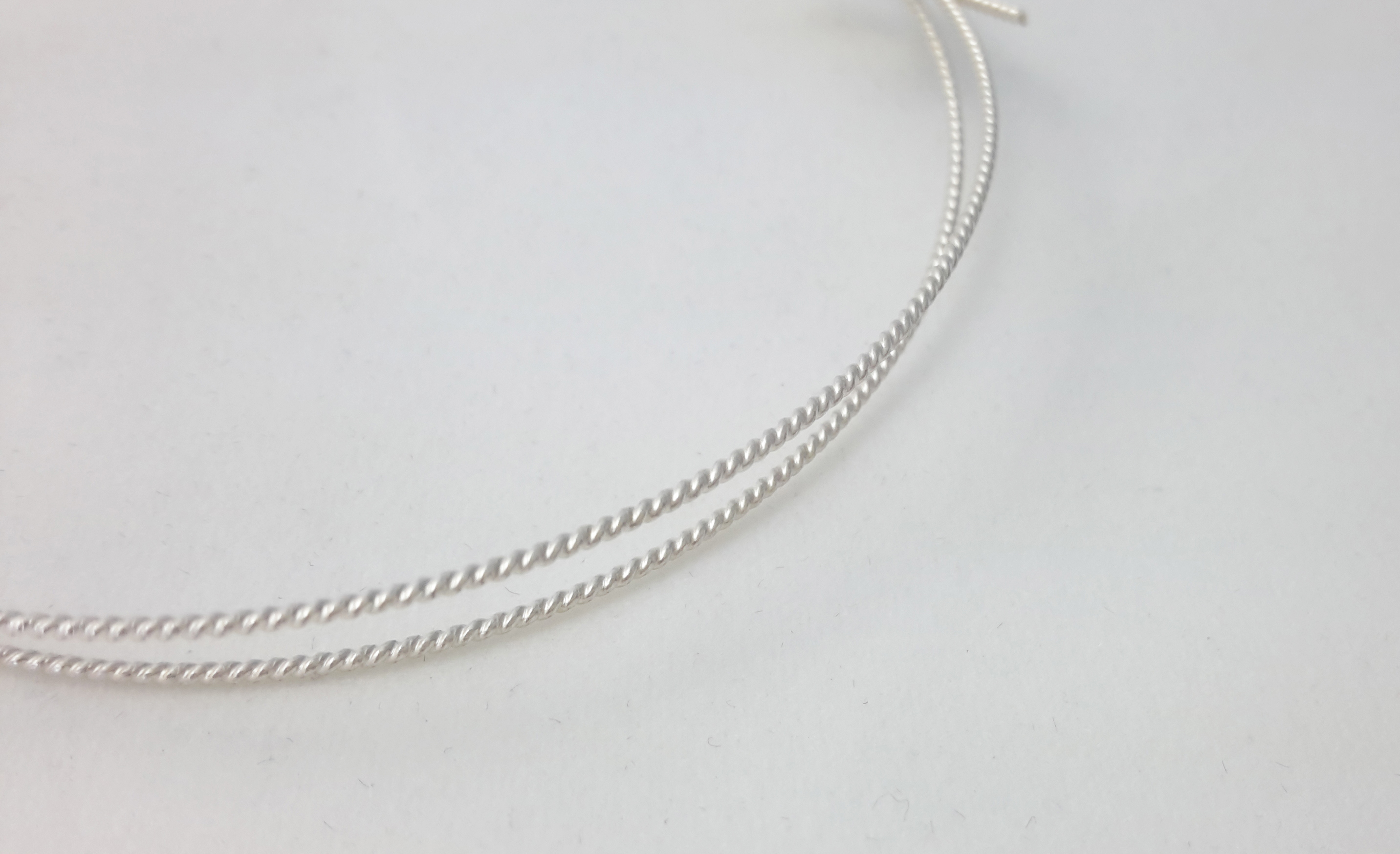 1 ft Solid Sterling Silver 925 Twisted patterned wire 1.70 mm 14 Ga