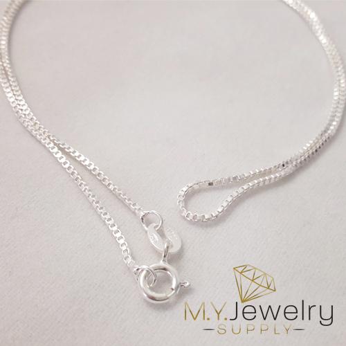 a589e63888a0b 925 Sterling Silver Box Chain Necklace