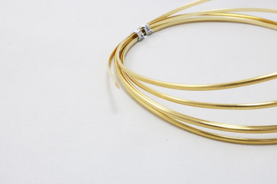 Red Brass Wire half round art craft M.Y. Jewelry Supply