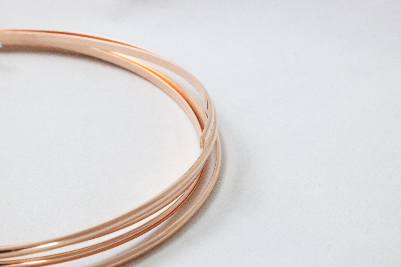 14 20 Rose Gold Filled Wire Half Round Dead Soft M Y