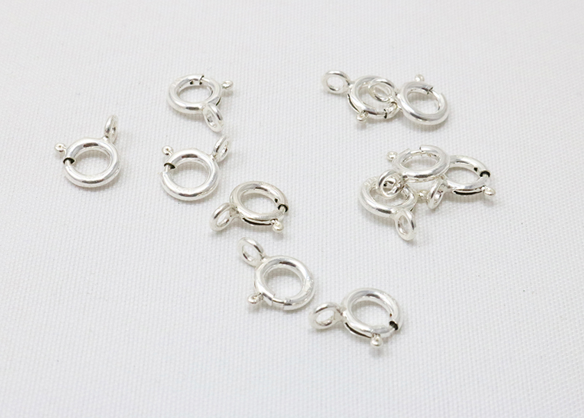 925 sterling silver  spring ring clasp  open ring  u2013 m y