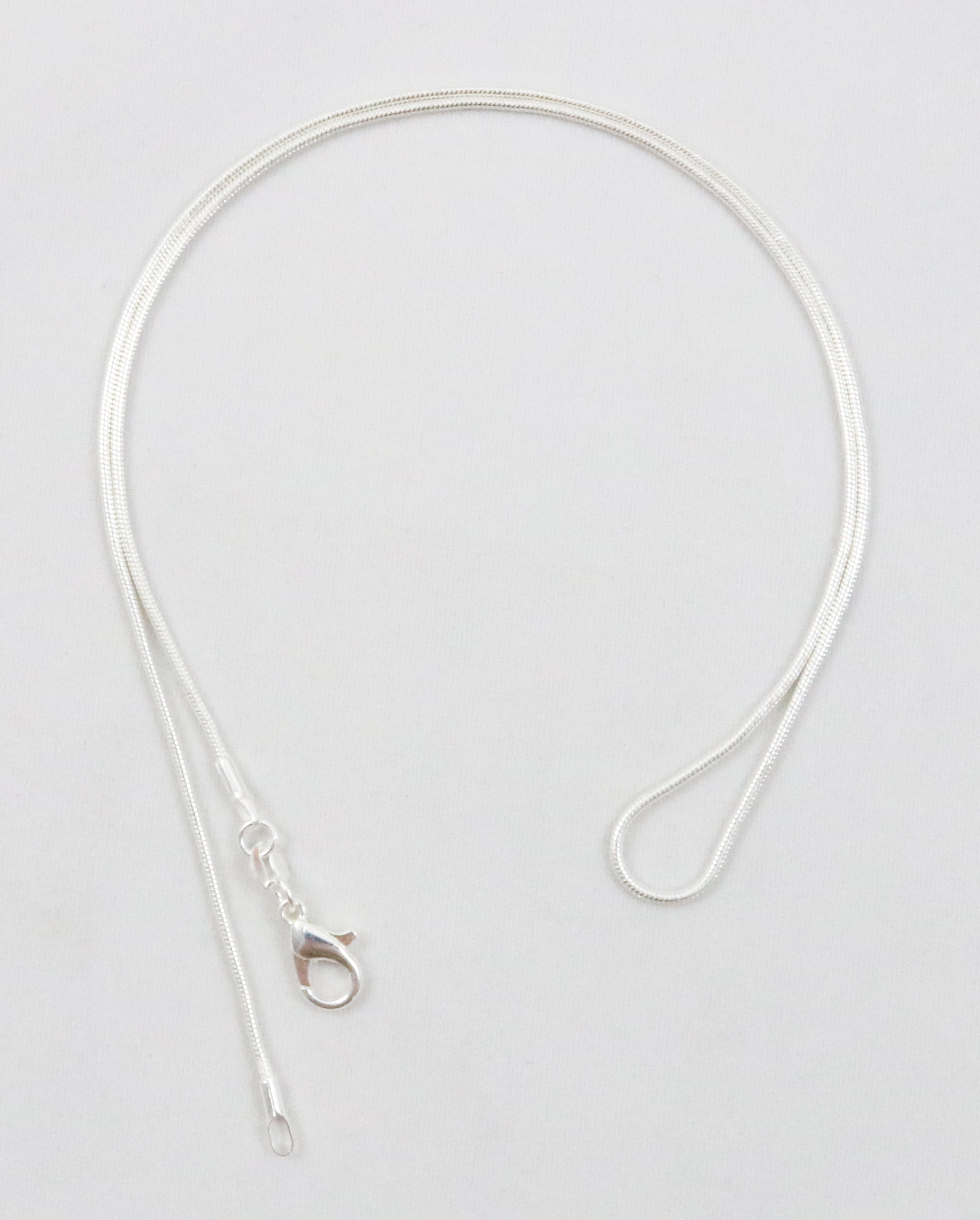 925 sterling silver plated necklace snake chain 1 0 mm  u2013 m